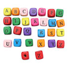 10mm Mixed Colour Alphabet Letter Cube Wooden Beads Craft Beading Kids Cheap