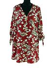 BRAND NEW Express Floral 3/4 Sleeve Red Summer Print Top