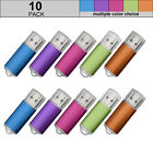 Lot 10PACK 64GB USB Flash Drive Rectangle USB2.0 Memory Stick Pen Drive 64G Disk
