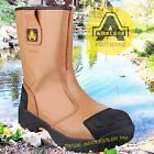 AMBLERS FS143 S3 brown waterproof safety rigger boot with midsole size 6-15