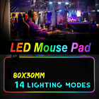 ❤ Extended LED Lighting Colorful RGB Gaming Mouse Pad Keyboard Mat For PC Laptop