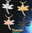 New Dragonfly Cremation Dragon Fly Urn Keepsake Ashes Memorial Necklace