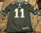 NIKE CARSON WENTZ NFL PHILADELPHIA EAGLES 11 MENS BLACK JERSEY ON FIELD