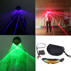 Rechargeable Green Blue Laser LED Bulb Stage Luminous Glasses For DJ Club Party