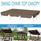 Waterproof Outdoor Swing Top Cover Canopy Replacement Porch Patio 2 Sizes