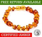 Genuine Baltic Amber Bracelet/anklet Knotted Beads Sizes 10-27 Cm