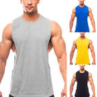 Men Gym Muscle Shirts Tank Tops Sports Bodybuilding Athletic Vest Singlets Tee