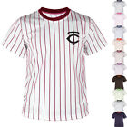 KH2008 New Minnesota Twins Striped Baseball Jersey T-Shirts Tee Uniform Dry 0108 on Ebay