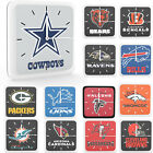 New 3 in 1 NFL PICK YOUR TEAMS Home Office Room Decor Wall Desk Magnet Clock 6