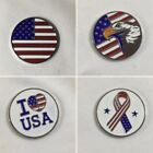 American Flag Eagle USA Patriotic Golf Ball Marker