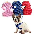 Puppy Mesh Harness&Leash Set Pet Dog Soft Vest Walk Strap for Small Dogs S L