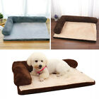 Small Large Plush Dog Bed Sofa Pillow Cushion Pet Washable Zipped Mattress Pad
