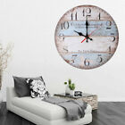 30cm Silent Wooden Round Wall Clock 12 Inch Vintage Rustic Shabby Chic Style USA