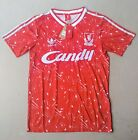 Liverpool Shirt 1989 1990 Retro Candy Home Away S, M, L, XL,  UK Location 89 90 <br/> A1 PREMIUM GRADE all badges and logos are FABRIC.