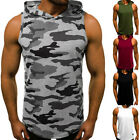 Kyпить Men's' Casual Sleeveless Hoodie Pullover Sweater Gym Sports Muscle Loose T-Shirt на еВаy.соm