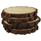 5PCS Round Rustic Woods Slices For Weddings Party Centerpieces Displaying Craft