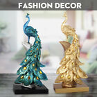 Resin Peacock Ornament Figurine Statue Sculpture Home Hotel Office Art Decor
