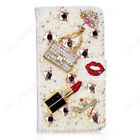 Bling Diamond Cases Leather Flip Wallet Card Back Cover Shockproof for Doogee