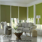DIM OUT WINDOW ROLLER BLINDS MADE TO MEASURE GREENS & BLUES CHILD SAFE EN13120
