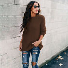 Womens Knitted Wear Solid Sweater Jumper Ladies Winter Casual Pullover Tops