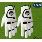 Leather Golf Gloves Mens Left Hand Right Weathersof Grip Ball Marker 2 Pcs Set