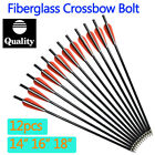 Fiberglass Arrow Crossbow Bolts Hunting Arrows Aluminum Flat Nock 14-18inch NEW