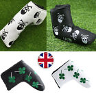 Golf Putter Head Covers Magnetic Skull Green Four Leaf Club Putter Covers Velco