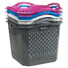 Stack-able Washing Clothes Hamper Laundry Basket Storage Bathroom Linen Bin