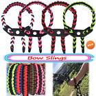 Archery Braided Compound Paracord Bow Wrist Sling Strap Leather Survival Durable