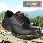 Black Leather Safety Shoes Metal Free Composite Toecap Work Shoe FS311 by Centek