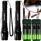 350000LM Zoomable T6 LED Rechargeable Torch Flashlight Work Light Headlamp Camp