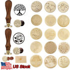 26 Styles Wax Seal Stamp Wooden Handle Brass Sealing Wedding Party Invitation
