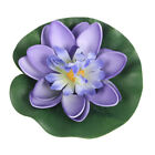 5X10cm Artificial Aquarium Water Lily Floating Flower Pond Tank Plant OrnamentFL