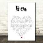 Ben White Heart Song Lyric Print
