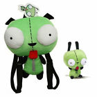 Alien Invader Zim Robot Gir Stuffed Backpack Bag / Plush Doll Toy Green Gift