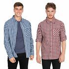 Trespass Sailfoot Mens Checked Cotton Shirt Longe Sleeve Top