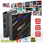 H96 MAX Plus Android 8.1 Ultra 4K HD Smart Streaming TV Box 4GB 32/64GB US STOCK