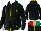 Rasta Reggae Hoodie Jacket Thick High Quality Africa Power Logo Embroidered