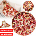 Soft Comfort Food Creations Pizza Wrap Blanket Perfectly Round Hamburger Throw image