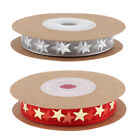 10 Meters Glitter Stars Ribbon Trim for DIY Christmas Home Party Decoration