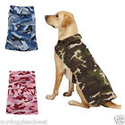 Casual Canine Dog Barn Coat Pink Blue or Green Camo 2 Straps Repels Wind Water