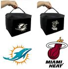 LICENSED NBA NFL Tailgate Insulated Cooler Lunch Bag Handle MIAMI DOLPHINS HEAT $14.95 USD on eBay