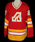 ATLANTA FLAMES RETRO HOCKEY JERSEY TOM LYSIAK SEWN NEW ANY SIZE