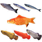 Pet Cat Dog Fun Fish Shape Cloth Toy Kitten Fish Teeth Cleaning Chew Toys Lovely