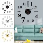Large Wall Clock Big Watch Decal 3D Stickers Roman Numerals DIY Wall Decoration