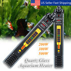 200/300/500W Aquarium Fish Tank Water Submersible Heater Adjustable