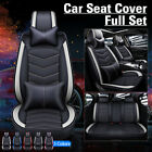 Universal Luxury Car Seat Cover 5-Seats SUV Front&Rear PU Leather Cushion Set $102.99 USD on eBay