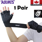 Gym Workout Gloves 1 Pair Weight Lifting Yoga Fitness Cycling Training Black CA