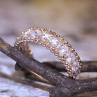 Gorgeous Women Rings 14k Rose Gold Filled White Sapphire Ring Size 6-10 image
