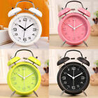 Twin Bell Alarm Clock Backlight Silent Desk Table Clock for Home & Office 4 New